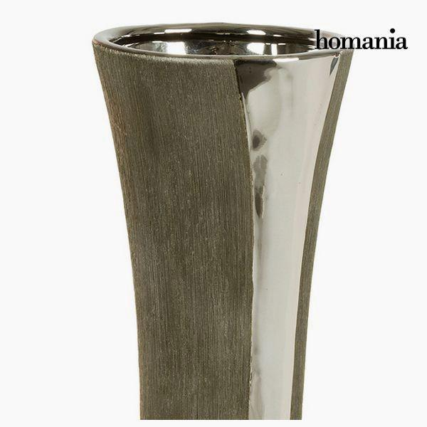 Vase Ceramic Silver Black - Serious Line Collection by Homania-Universal Store London™