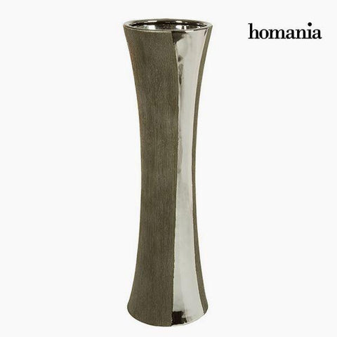 Image of Vase Ceramic Silver Black - Serious Line Collection by Homania-Universal Store London™