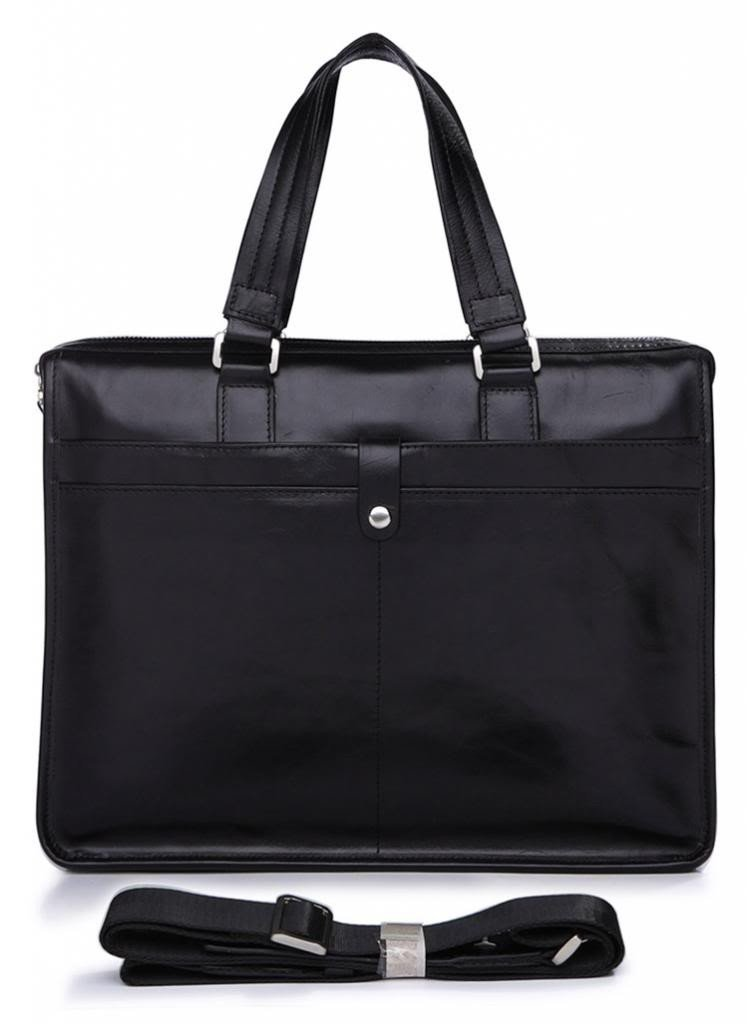Vintage Black Leather Briefcase-Universal Store London™