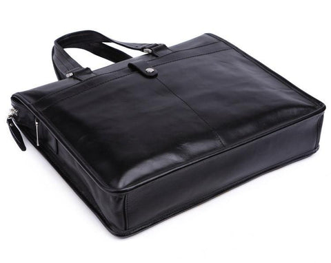 Image of Vintage Black Leather Briefcase-Universal Store London™