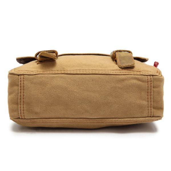 Vintage Canvas Genuine Leather Small Messenger Shoulder Bag-Universal Store London™