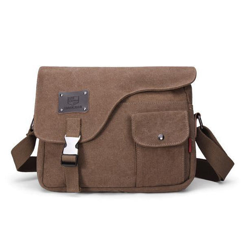 Image of Vintage Canvas Messenger Bag-Universal Store London™