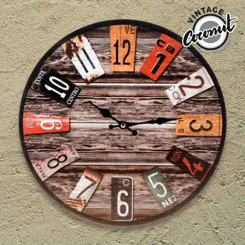 Vintage Coconut Antique Wall Clock-Universal Store London™