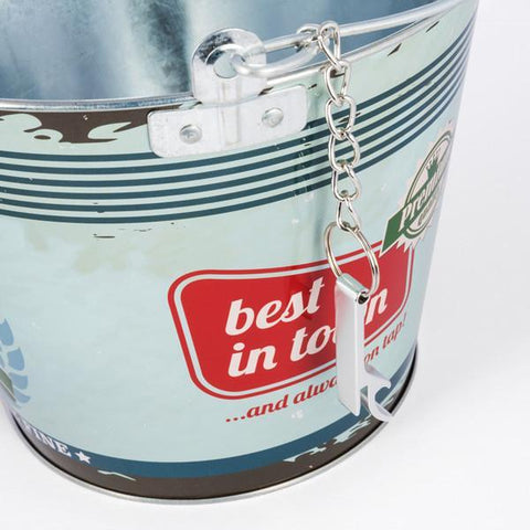 Vintage Coconut Metal Bucket with Bottle Opener-Universal Store London™