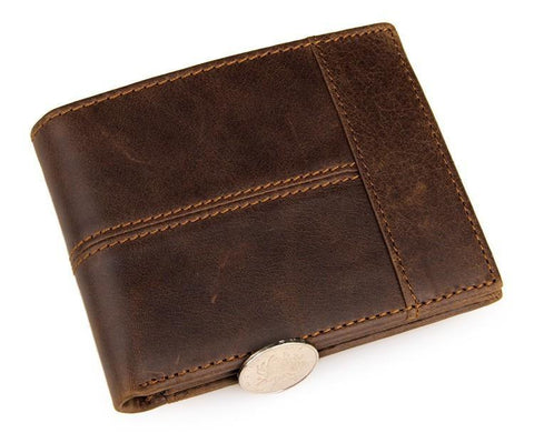 Image of Vintage Leather Wallet USL8064B-Universal Store London™