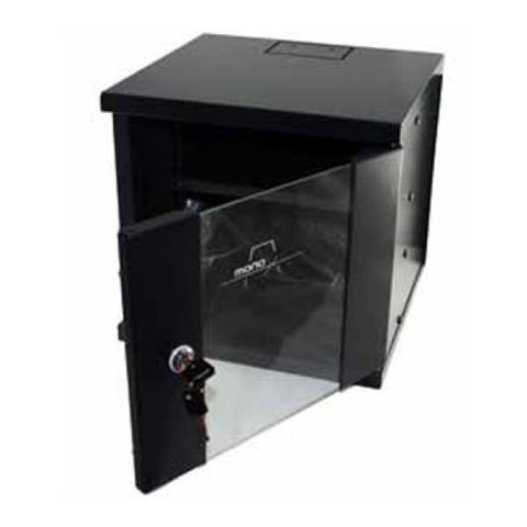 "Wall-mounted Rack Cabinet Monolyth 200000 6 U 330 x 310 mm 10"" Black-Universal Store London™"