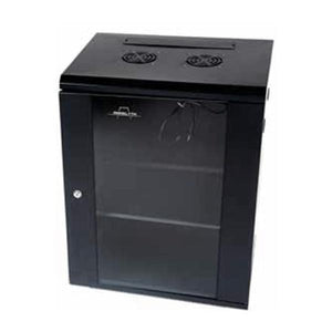 Wall-mounted Rack Cabinet Monolyth 201030 15 U 600 x 450 mm 1F-2V-2L Black-Universal Store London™