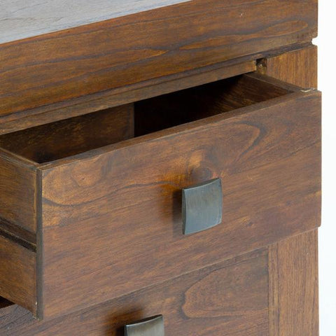 Walnut nature bedside table - Nogal Collection by Craftenwood-Universal Store London™