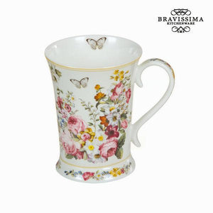White bloom porcelain cup - Kitchen's Deco Collection by Bravissima Kitchen-Universal Store London™