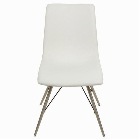 Image of White faux leather chair by Craftenwood-Universal Store London™