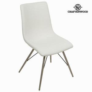 White faux leather chair by Craftenwood-Universal Store London™