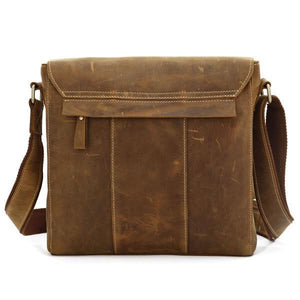 'Wild West' Handmade Small Leather Messenger Bag - Brown-Universal Store London™