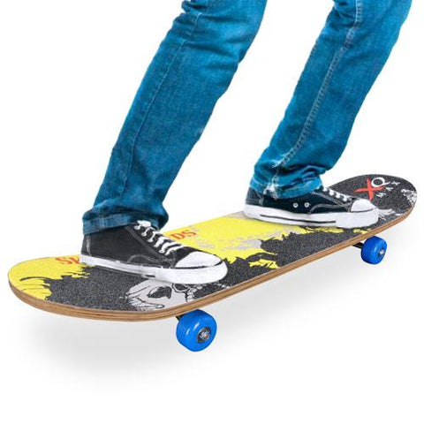 Wooden Skateboard (4 wheels)-Universal Store London™