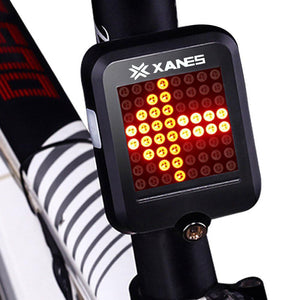 XANES STL-01 64 LED 80LM Intelligent Automatic Induction Steering Brake Safety Bicycle Taillight with Infrared Laser Warning Waterproof Night Light USB Charging-Universal Store London™