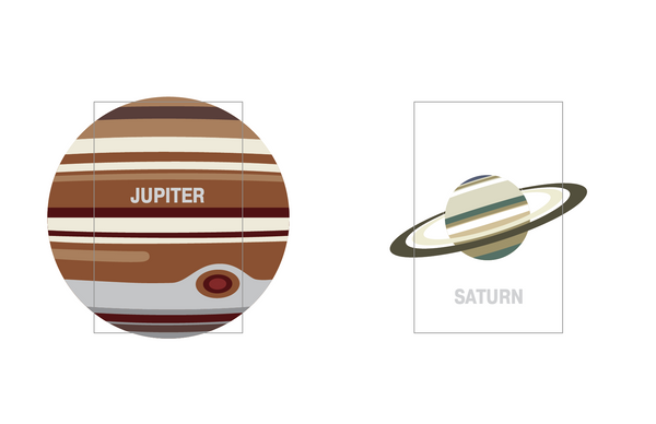 Solar System notebook covers for Jupiter and Saturn