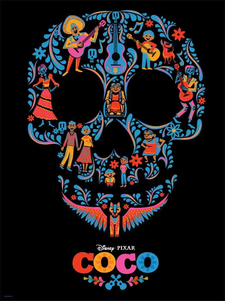 Coco Day of the Dead Skull Poster