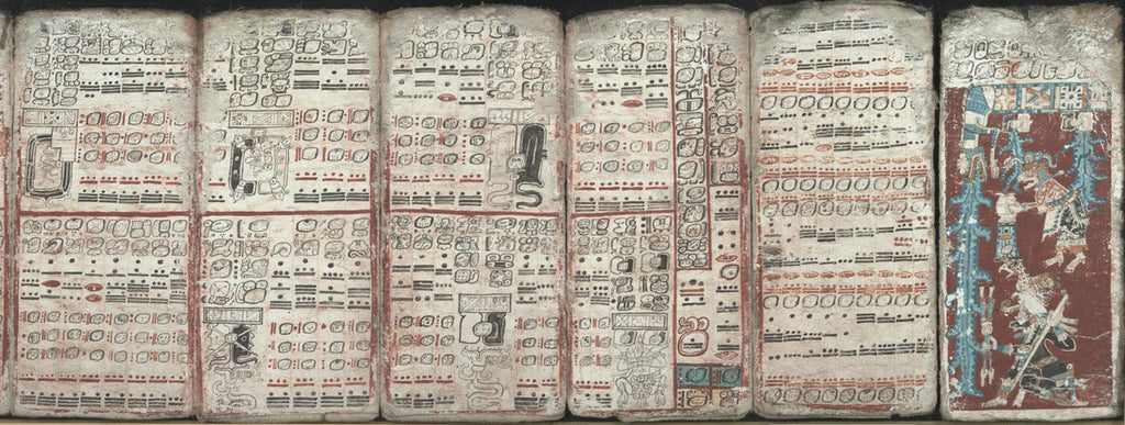 Dresden Codex depicting the eclipse, multiplication tables and a great flood.