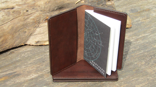 Pocket notebook cover - open with the night sky notebook