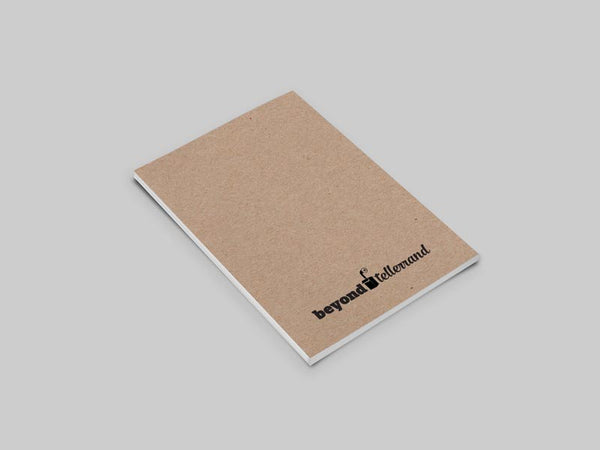 Example Kraft Conference Notebook, back cover with Beyond Tellerrand logo