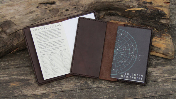 Two Pocket Notebook Covers with Night Sky Notebooks inside