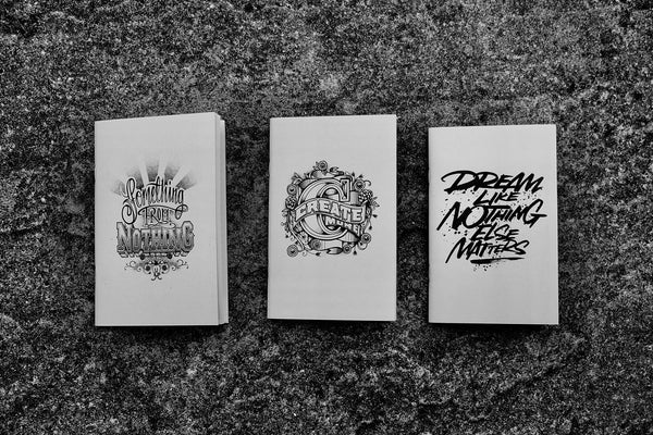 Coffee Cup Notebooks featuring Rob Draper - Front Covers of three notebooks