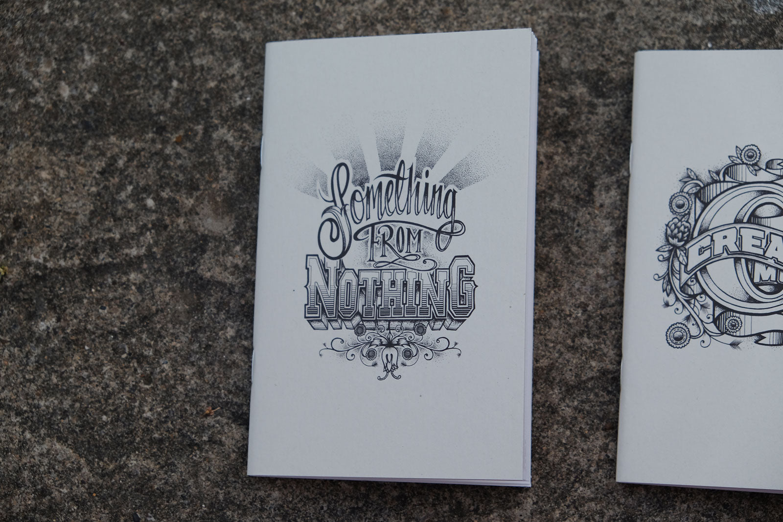 Coffee Cup Notebooks featuring Rob Draper - Front Covers of Something from Nothing