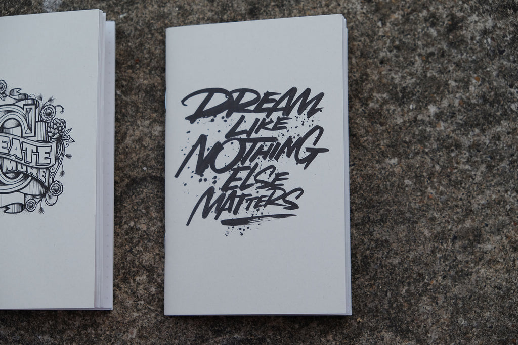 Coffee Cup Notebooks featuring Rob Draper - Front Covers of Dream like nothing else matters
