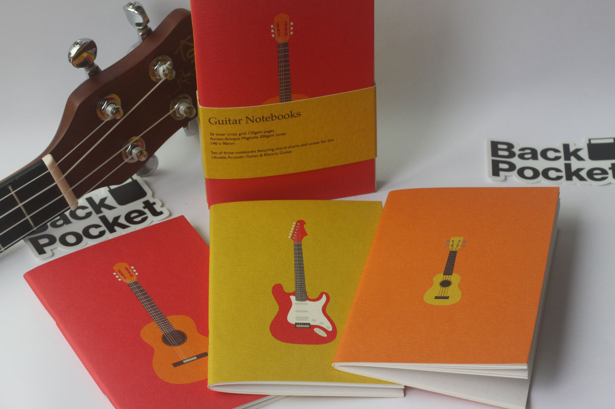 Guitar Notebooks Set Of 3 Ukulele Acoustic Electric Editions