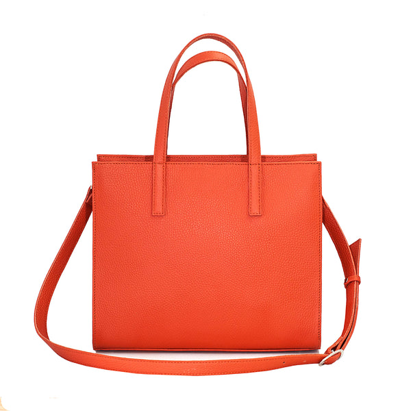 Classic spring leather square handbag