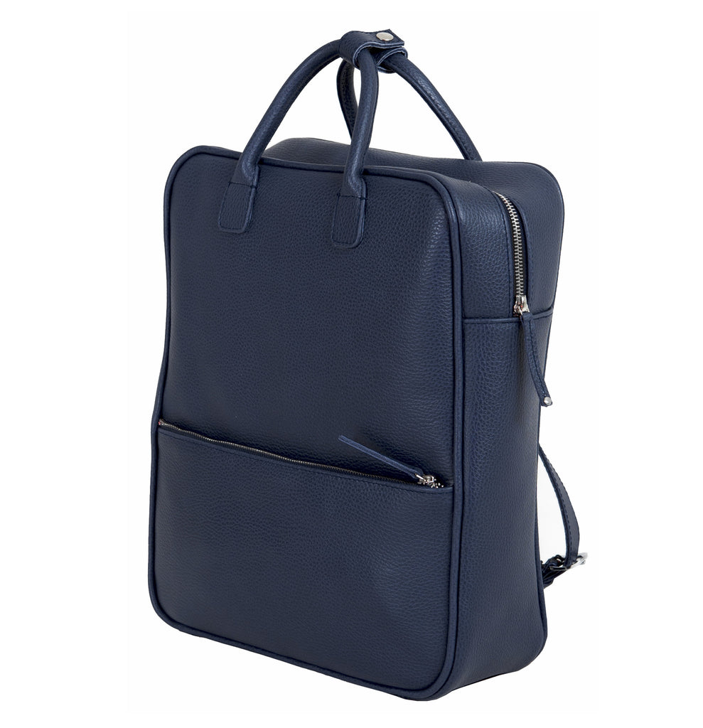 Classic style leather backpack