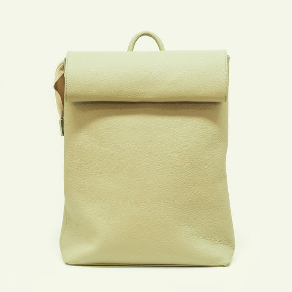 Minimalistic leather backpack spring 2019