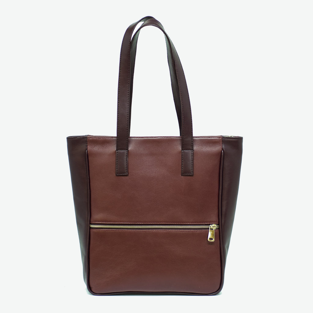 Large leather bag for winter