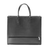 Large leather square handbag