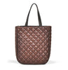 Quilted autumn leather handbag