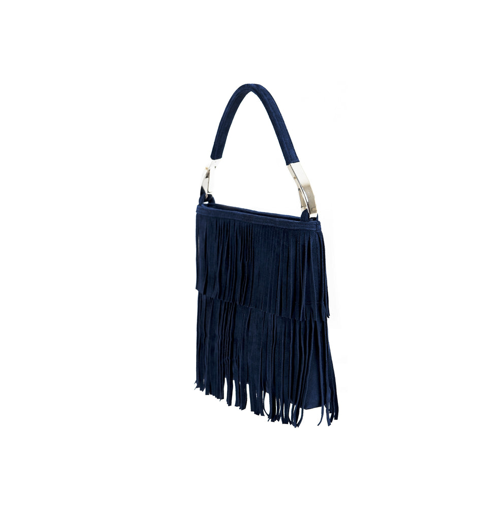 Small ladies purse with leather fringes