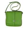 Small leather handbag with shoulder strap