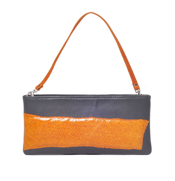 Purse with fish leather