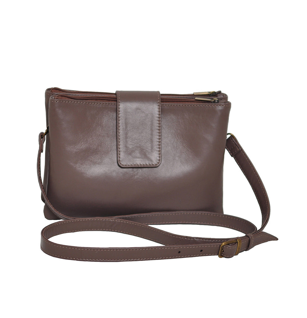Small leather bag with shoulder strap