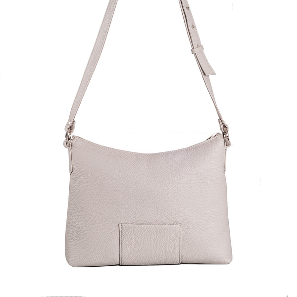 Small leather summer handbag