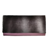 Color block leather clutch