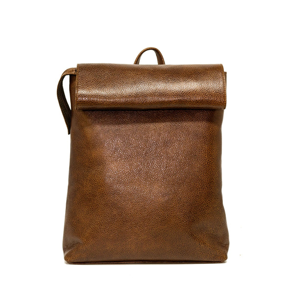 Autumn leather backpack
