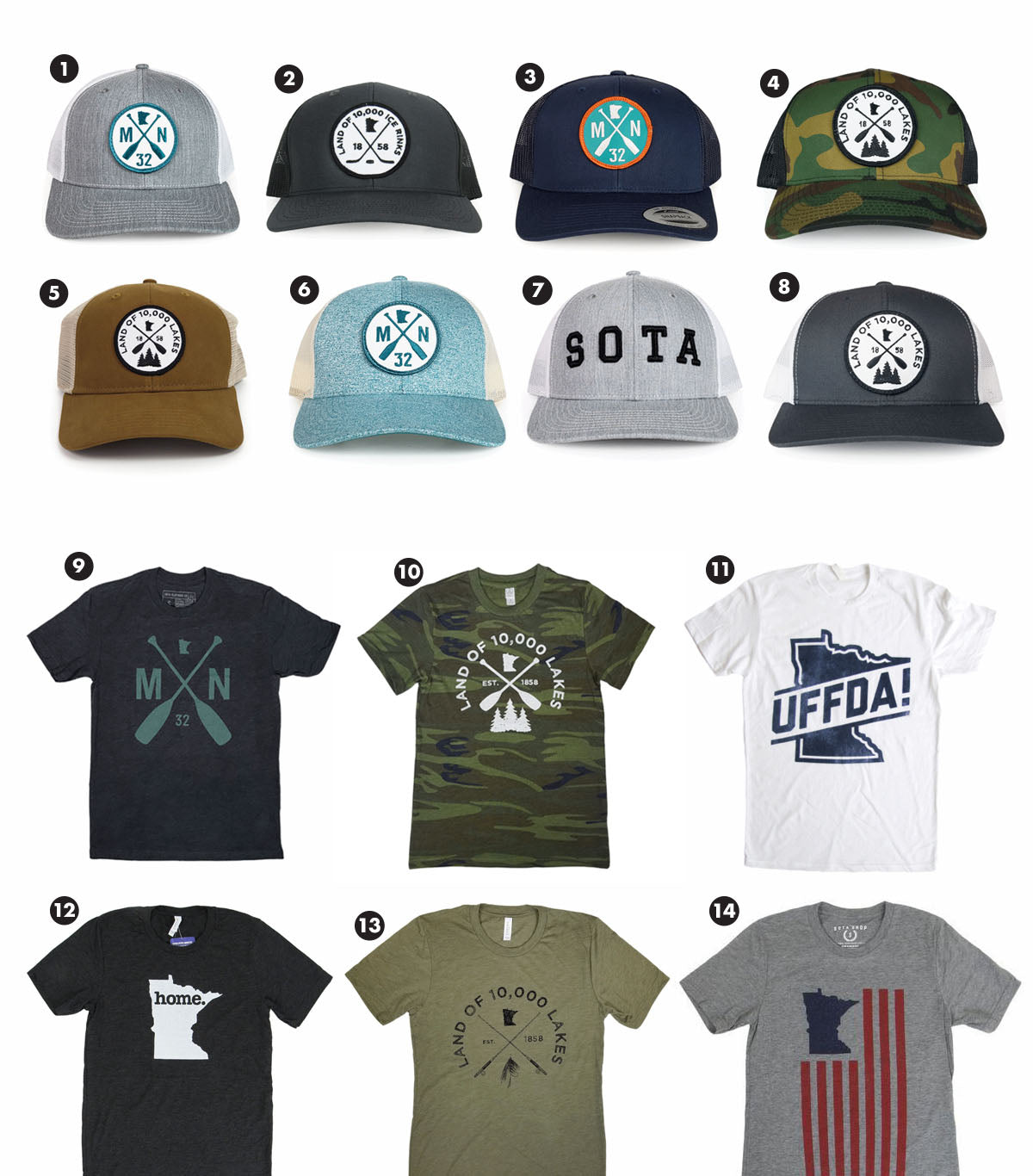 Fathers Day Gifts - Hats and Shirts