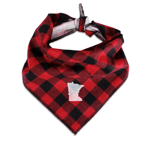 MN Plaid Dog Bandana