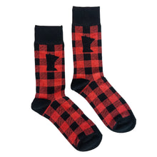 Load image into Gallery viewer, MN Plaid Socks