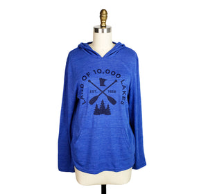 Women's light-weight hooded sweatshirt