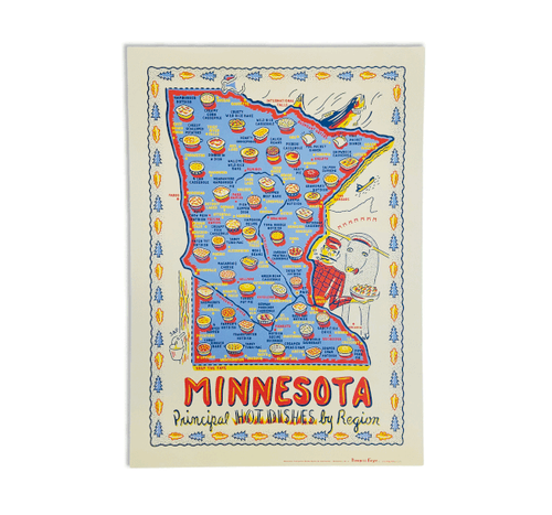 Minnesota Hot Dish by Region Poster