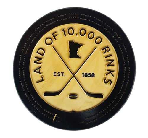 10K Rinks Wood Cribbage Board