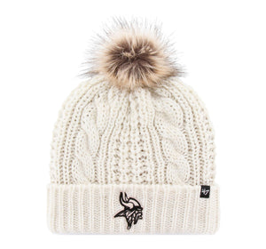 Minnesota Vikings Meeko Cuff White Knit Hat - Women's