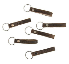Load image into Gallery viewer, Brown Leather Keychain