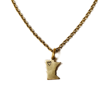 Load image into Gallery viewer, MN Heart-Stamped Necklace